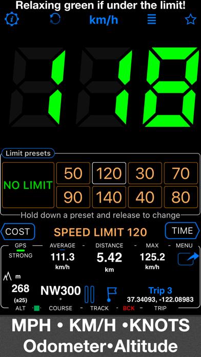 Screenshot for Speedometer 55 Pro. GPS kit. in Sweden App Store