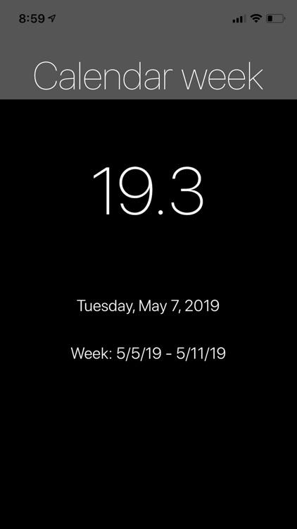 CW - Calendar Week