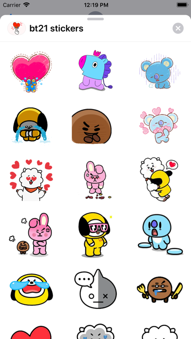 BT21 Stickers Screenshot