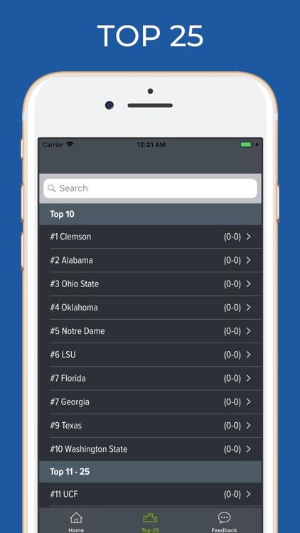 Indiana Football Schedules screenshot-5