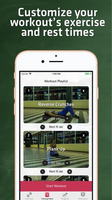 Core & Abs Workout For Women screenshot three