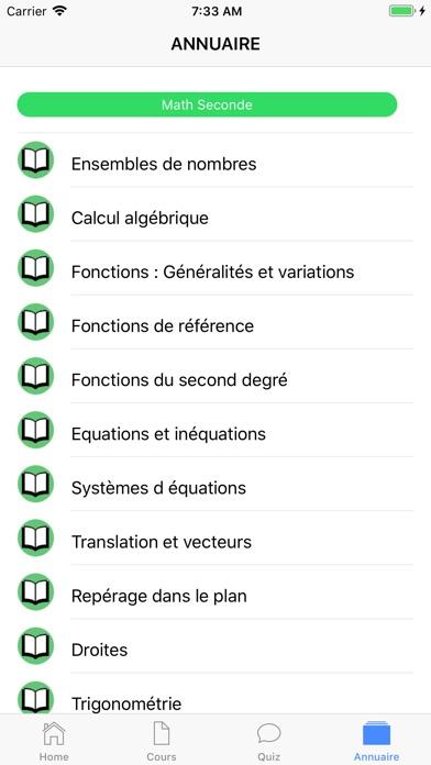 Maths Seconde screenshot 6