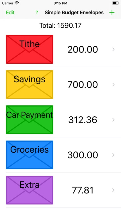 Simple Budget Envelopes