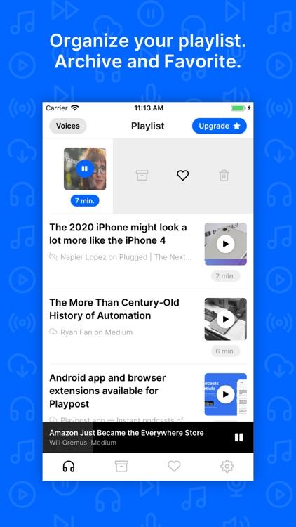 Playpost: Listen to articles screenshot-5