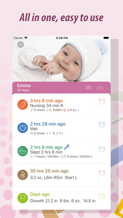 Screenshot for Baby Tracker - Newborn Log in New Zealand App Store
