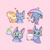 Cute Bat stickers