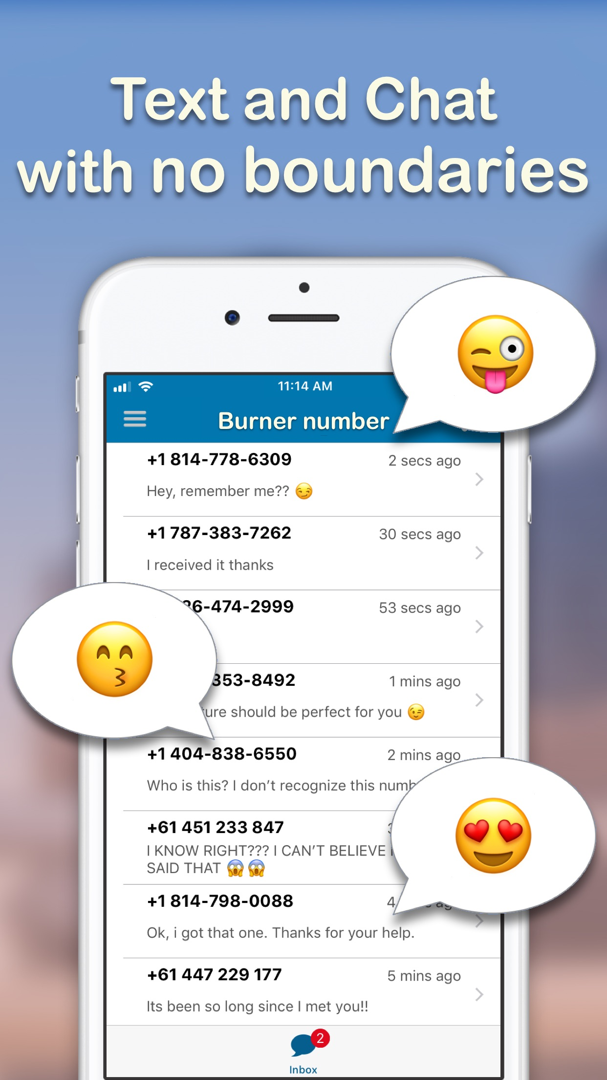 Text Burner - Texting App Screenshot