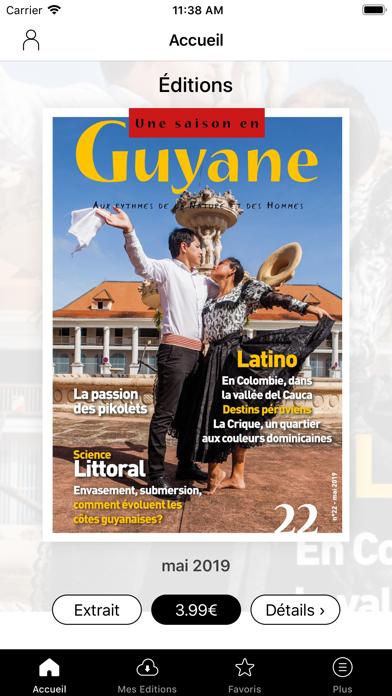 Une saison en Guyane magazine screenshot one