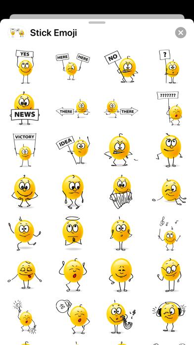 点击获取Stick Emoji Smiley Stickers
