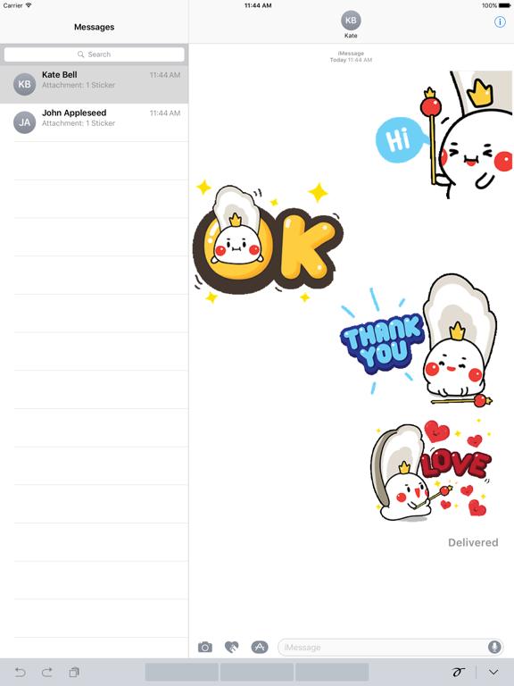 Animated Oyster Queen Sticker screenshot 4