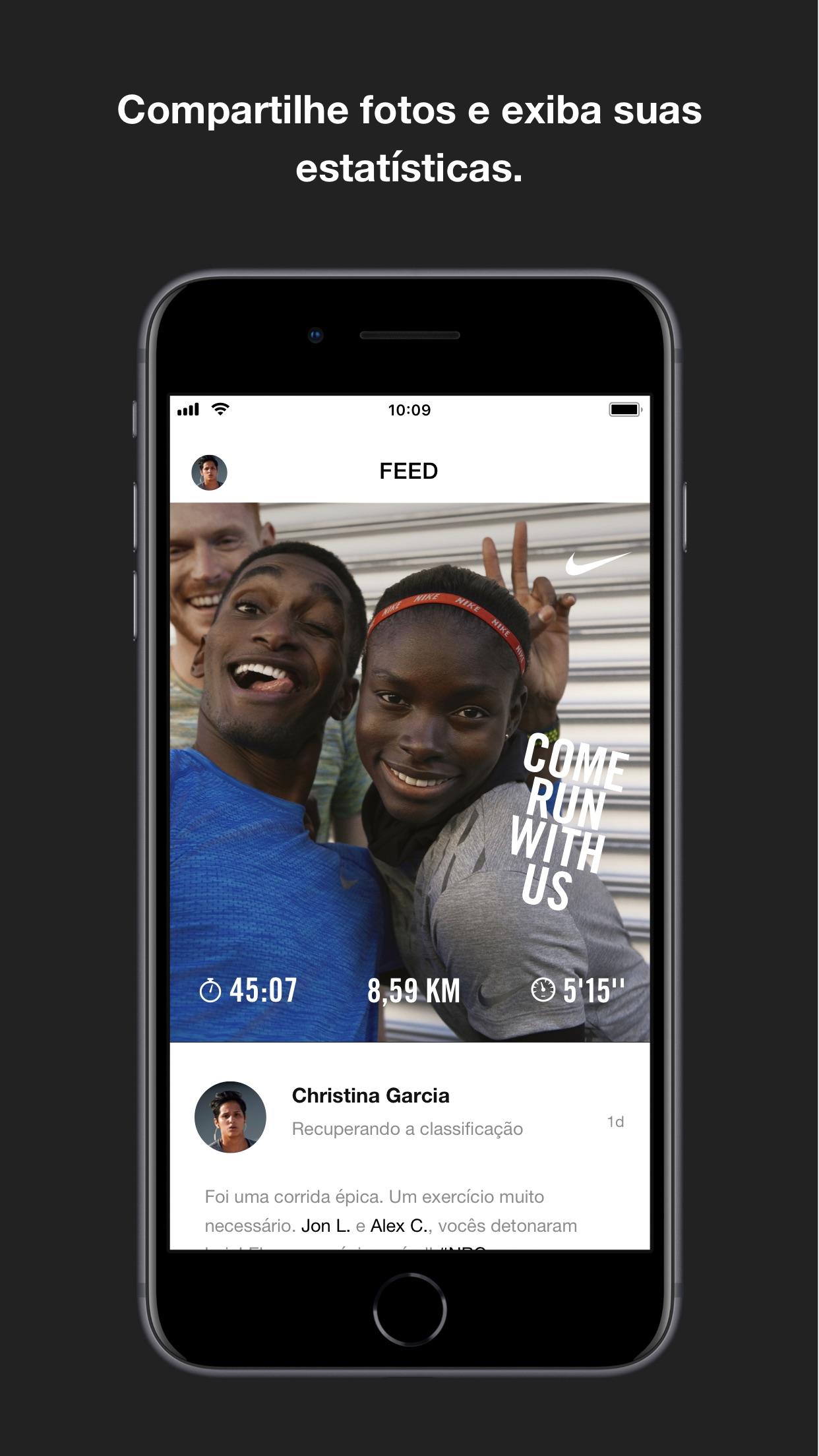 Screenshot do app Nike Run Club
