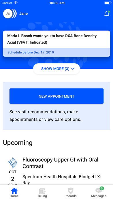 Spectrum Health Myhealth review screenshots