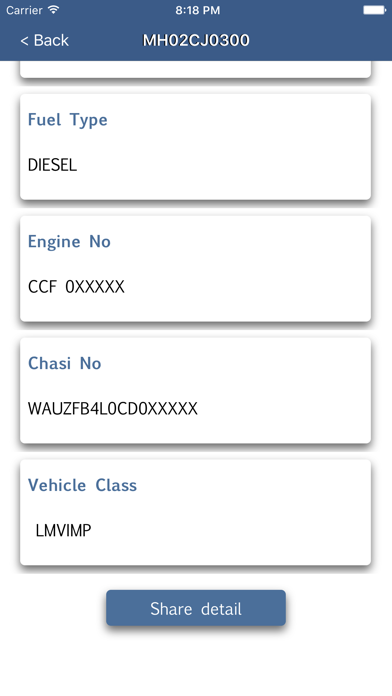 Screenshot for Vehicle Registration Info in India App Store
