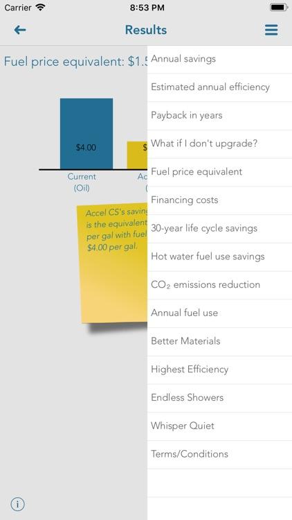 SmartHeat savings estimates screenshot-4