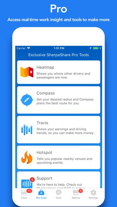 SherpaShare - Driver Assistant Screenshot