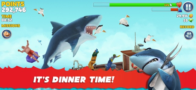 Mod Game Hungry Shark Evolution for iOS