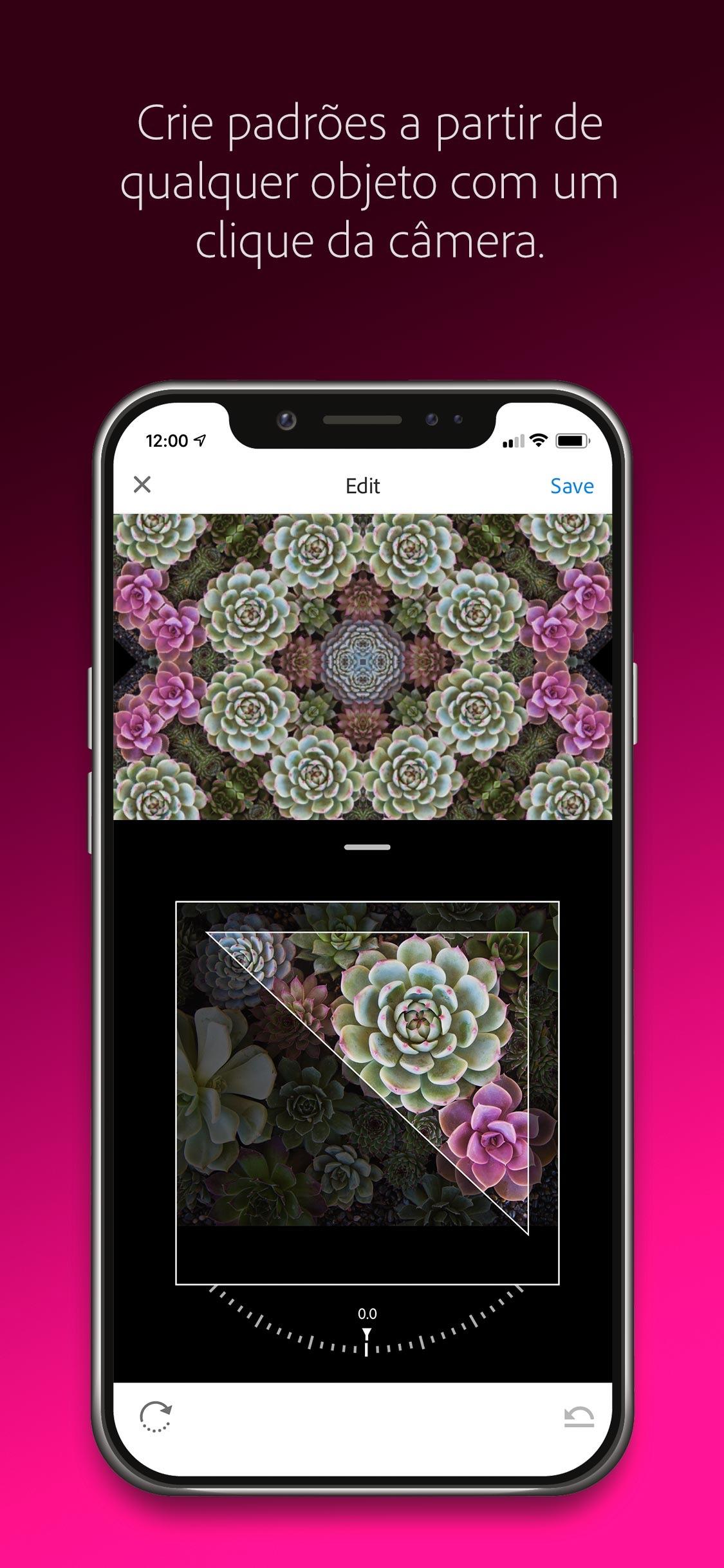 Screenshot do app Adobe Capture