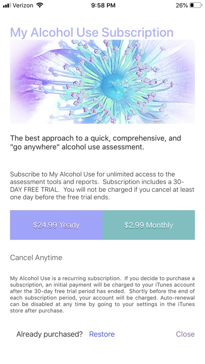 My Alcohol Use (Assessment)