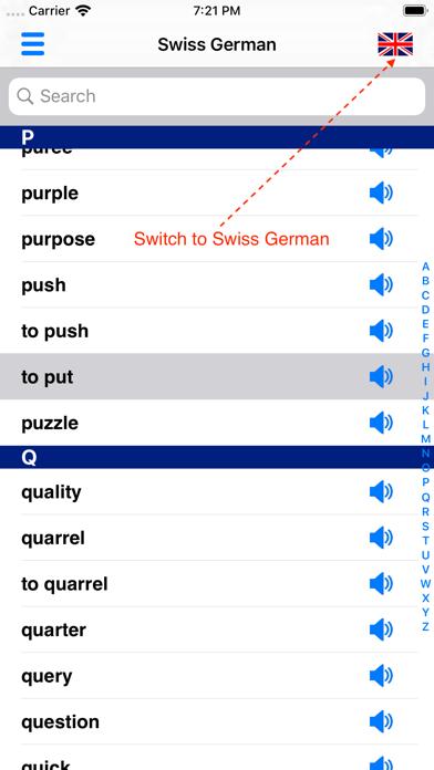 Swiss German Dictionary screenshot four