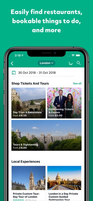 TripAdvisor Hotels Restaurants Screenshot