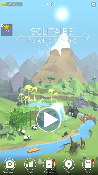 Solitaire Planet Zoo screenshot 1