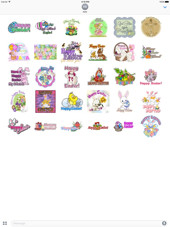 Happy Easter Animated Sticker screenshot 3