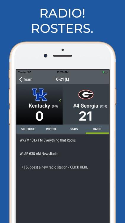Kentucky Football Schedules