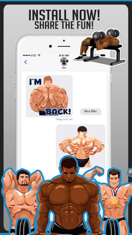 Body Building Stickers Emoji screenshot-4