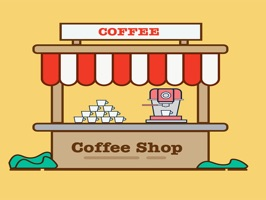 The CoffeeShopSt is a small sticker, which are show the 20 Coffee Shop sticker in cartoon