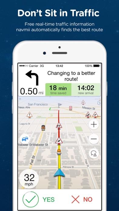 Navmii Offline GPS South Korea screenshot two