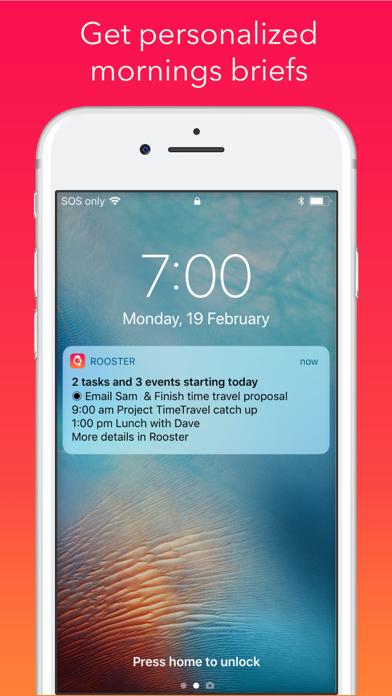 Rooster: Calendar screenshot