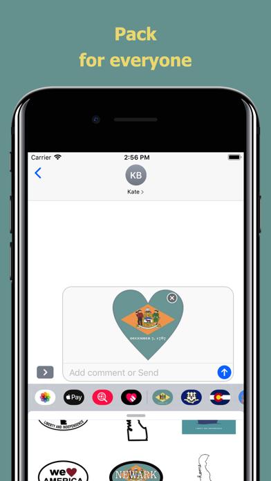 Delaware emojis - USA stickers screenshot 4