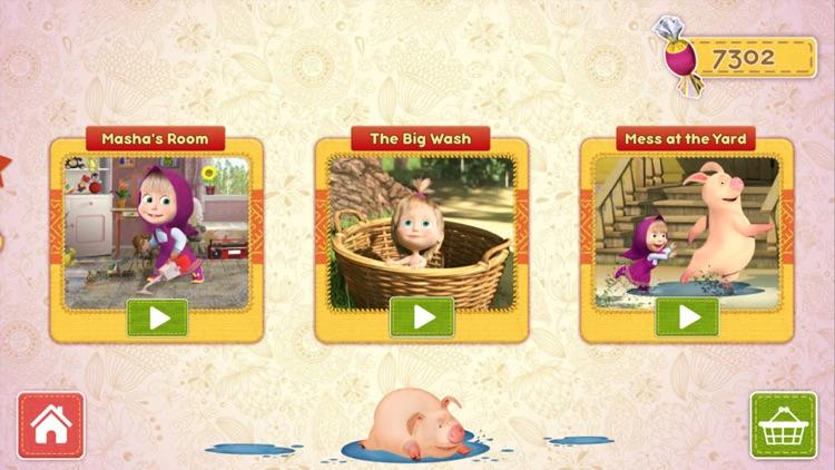Masha and the Bear Clean House screenshot-4