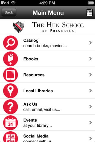 The Hun School Library App - náhled