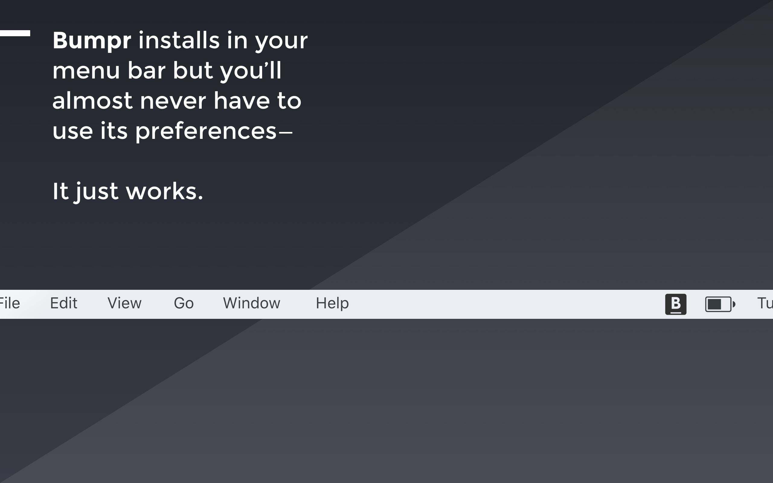 Screenshot do app Bumpr