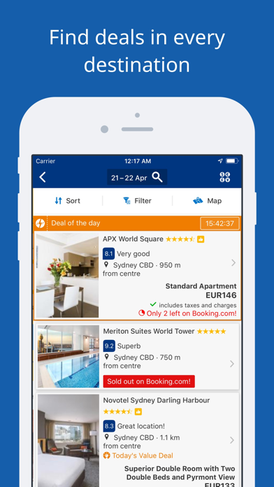 Screenshot for Booking.com Travel Deals in Australia App Store