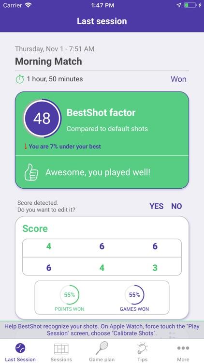 BestShot Tennis Tracker