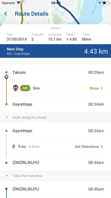 Screenshot of Ulasim Asistani App