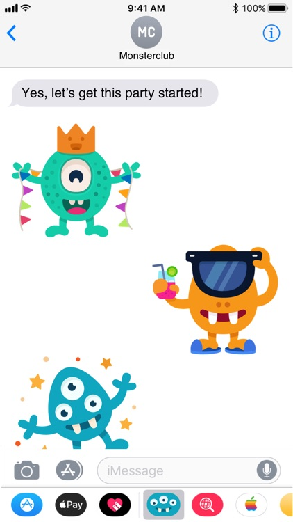 Happy Monster stickers screenshot-4