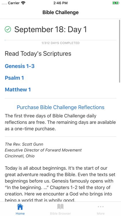 Bible Challenge - Reading Plan