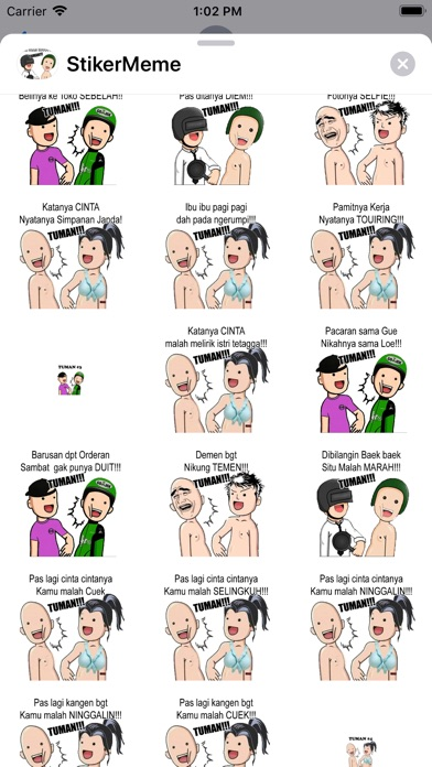 Meme Tuma Stickers app image