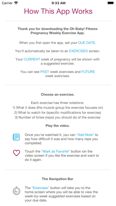 Oh Baby! Pregnancy Exercise Screenshot 1