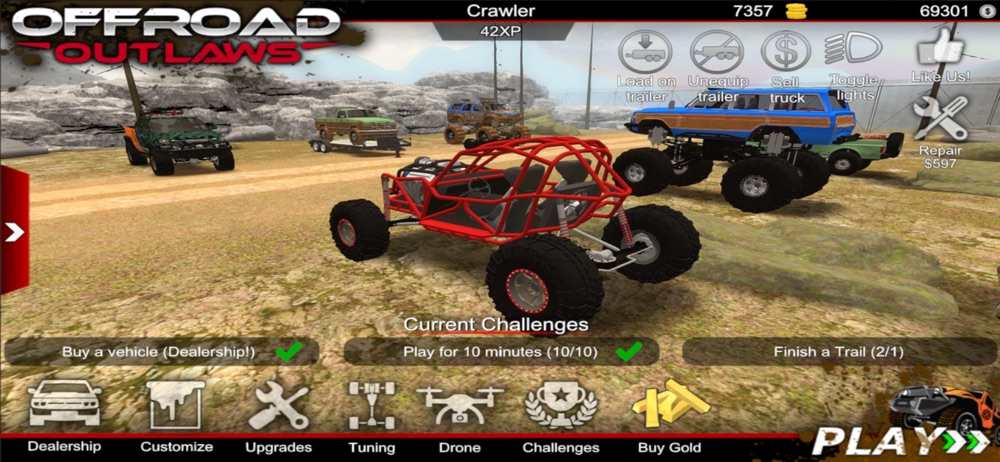 Offroad Outlaws Cheat Codes