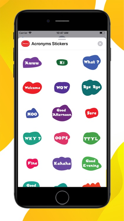 Acronyms Word Stickers