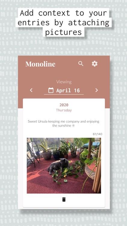 Monoline - Daily Diary Journal screenshot-3