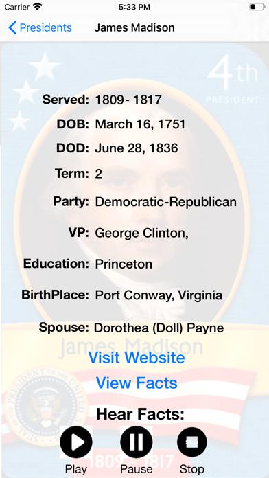 America.Presidents Brief Intro screenshot #2