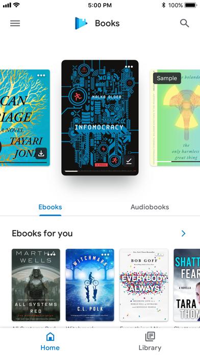 Screenshot #1 pour Google Play Livres