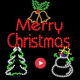 Merry Christmas Neon Sticker