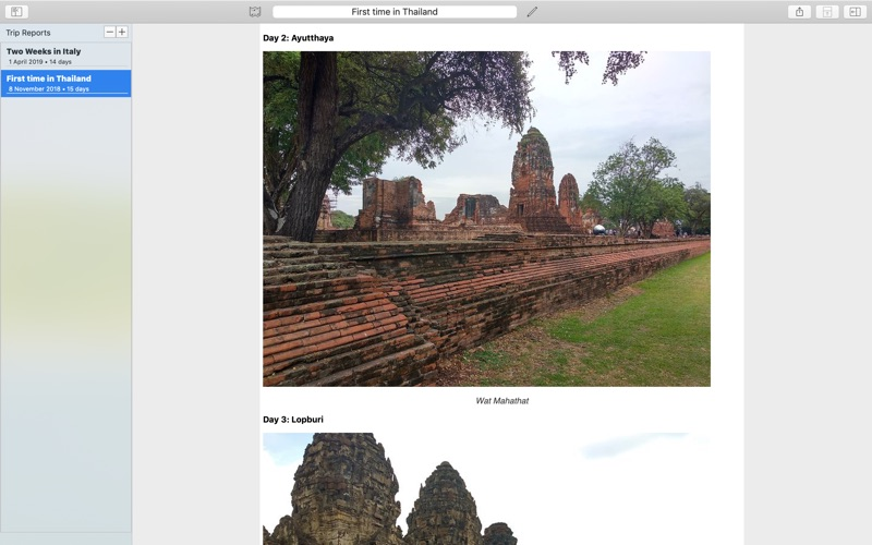 My Travels Reports скриншот программы 1