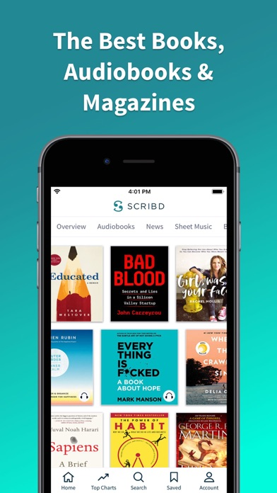 Screenshot for Scribd - audiobooks & ebooks in United States App Store